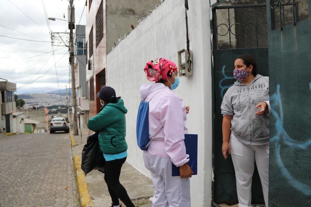 Búsqueda activa de casos COVID-19 en más de 10 barrios del DMQ