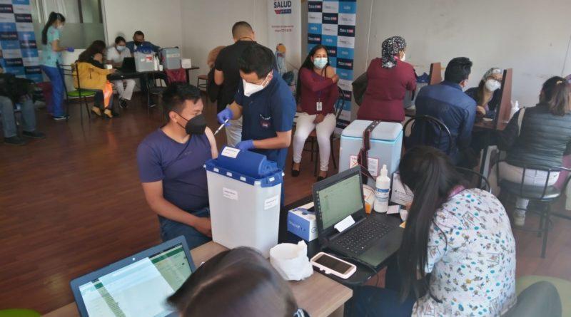 Municipio apoya jornadas de vacunación en los CC del Ahorro