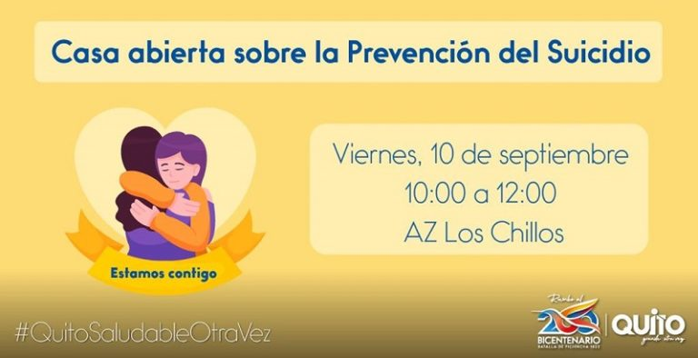 Estamos contigo: te esperamos en nuestra casa abierta de la Prevención sobre el Suicidio